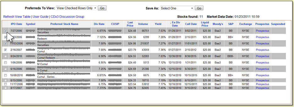Preferred Stock List An Example Of Finding Preferred Stocks